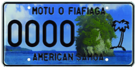 American Samoa License Plate Design