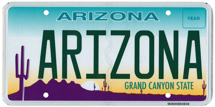 Arizona License Plate Design