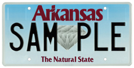 Arkansas License Plate Design