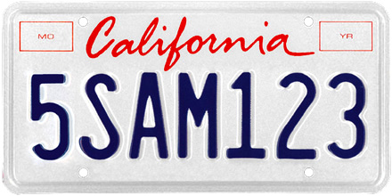 California License Plate Design