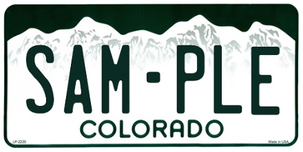 Colorado License Plate Design
