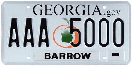 Georgia License Plate Design