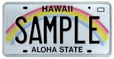 Hawaii License Plate Design