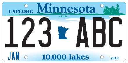 Minnesota License Plate Design