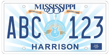 Mississippi License Plate Design