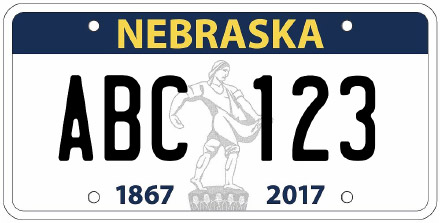 Nebraska License Plate Design