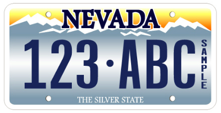 Nevada License Plate Design