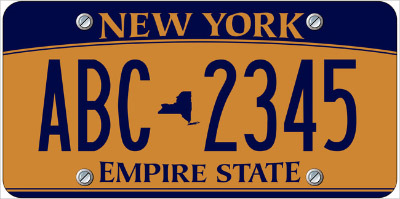 New York License Plate Design