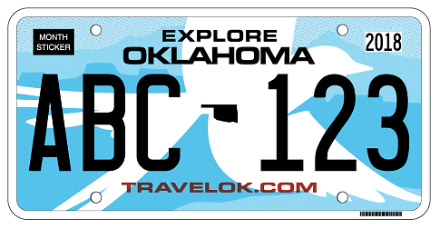 Oklahoma License Plate Design