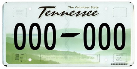 Tennessee License Plate Design