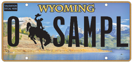 Wyoming License Plate Design